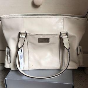 Calvin Klein cream leather handbag